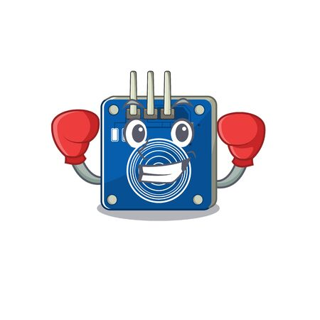 Boxing touch sensor isolated in the character vector illustration
