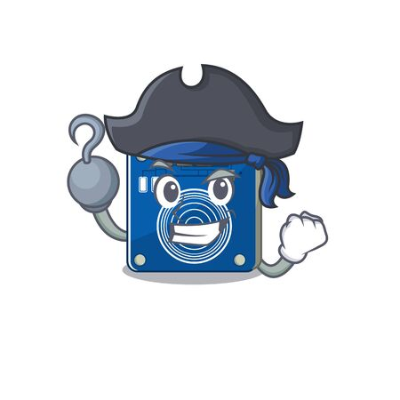 Pirate touch sensor isolated in the character vector illustration Ilustracja