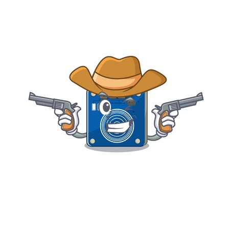 Cowboy touch sensor isolated in the character vector illustration