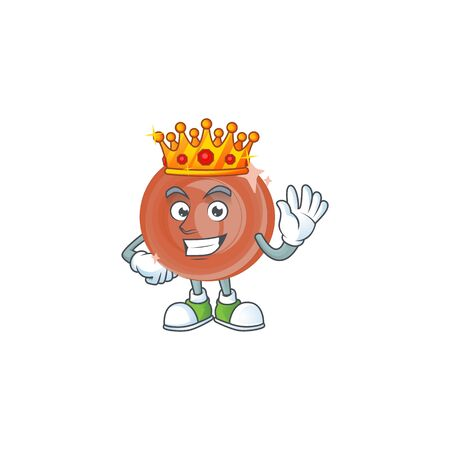 King bronze coin cartoon character mascot style. vector illustration Archivio Fotografico - 130799752
