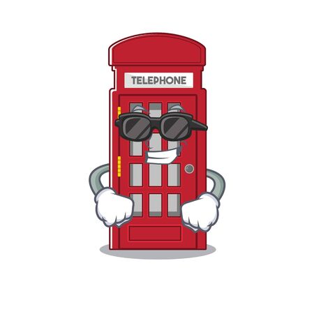 Super cool telephone booth on the roadside character
