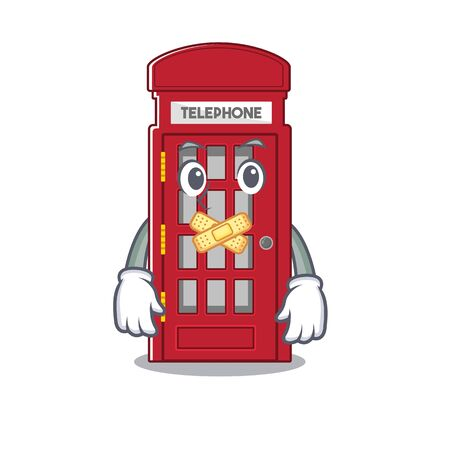 Silent telephone booth isolated with the cartoon Stock Illustratie