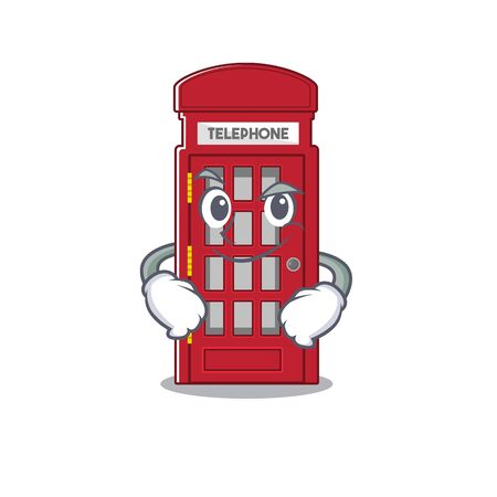 Smirking telephone booth on the roadside character vector illustration