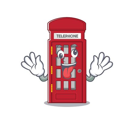 Crazy telephone booth isolated with the cartoon vector illustration