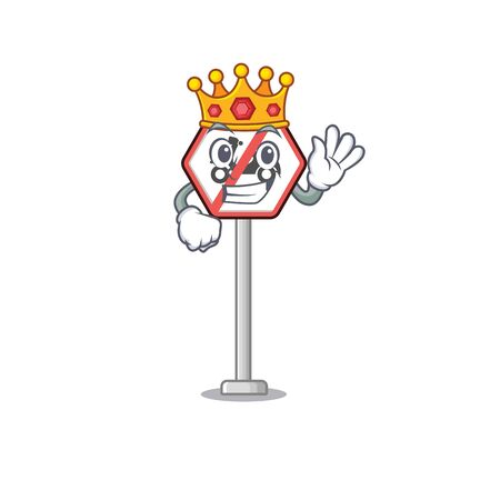 King toy no motorcycles above mascot table vector illustration