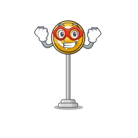 Super hero roundabout ahead character isolated the cartoon Stockfoto - 131030318