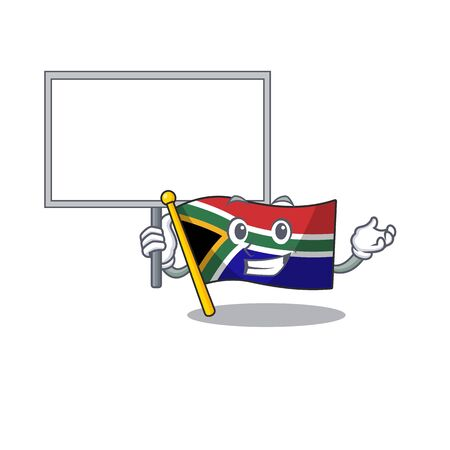 Bring board flag south africa on a character vector illustration