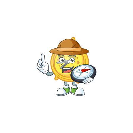 Explorer alarm clock cartoon with machine classic.