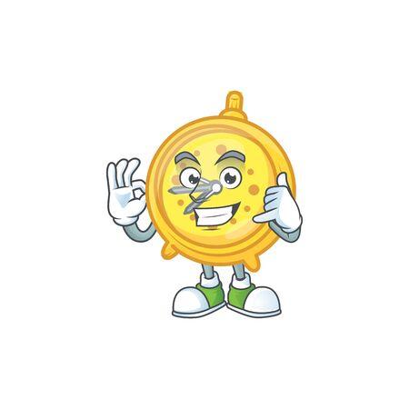 Call me alarm clock character on white background vector illustration Stock Illustratie