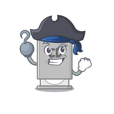 Pirate rom drive mascot isolated with cartoon vector illustration