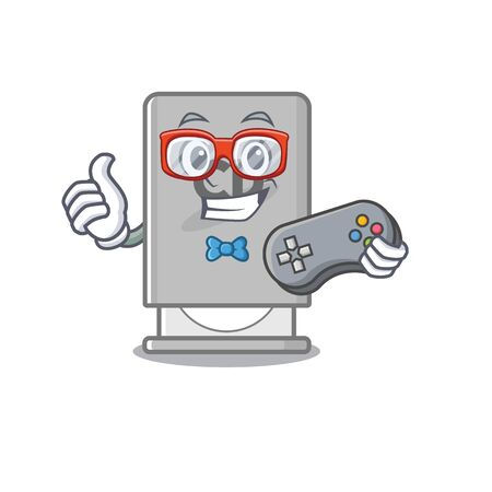Gamer rom drive with the cartoon shape vector illustration