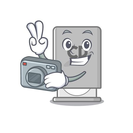 Photographer rom drive with the cartoon shape vector illustration