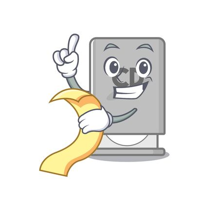 With menu rom drive with the cartoon shape vector illustration Illustration