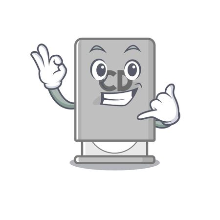 Call me rom drive toys above character chair vector illustration
