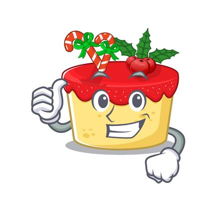 Thumbs up christmas cookies in a mascot jar vector illustration Illustration
