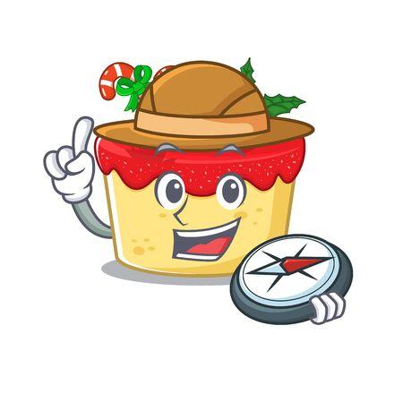 Explorer christmas cookies in the shape cartoon vector illustration Ilustração