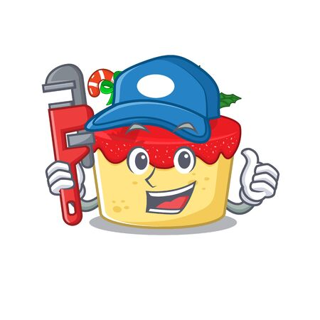 Plumber christmas cookies isolated with the character vector illustration