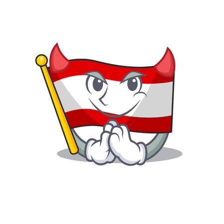 Devil flag austria mascot shape the character vector illustration Illustration