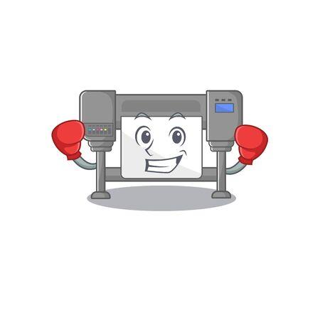 Boxing plotters? with the a characer shape vector illustration Vektoros illusztráció