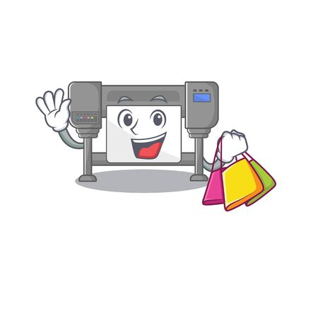 Shopping plotters? isolated with in the character vector illustration