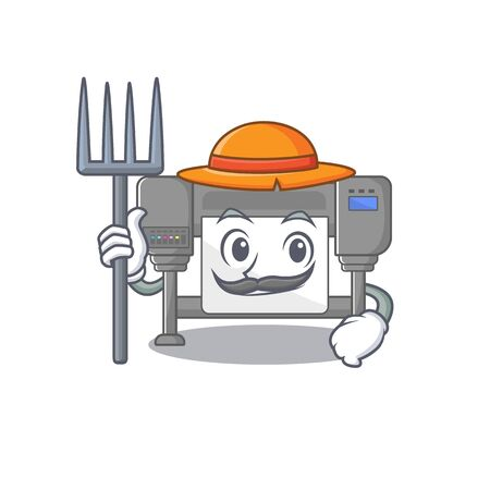 Farmer plotters? with the a character shape vector illustration