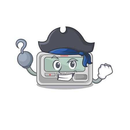 Pirate pager with in the mascot shape vector illustration