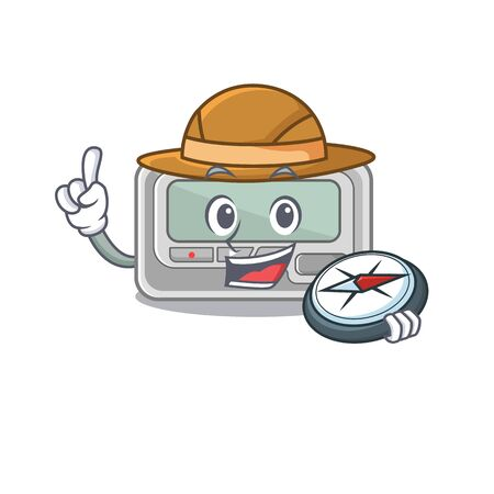 Explorer toy pager in the character shape vector illustration 일러스트