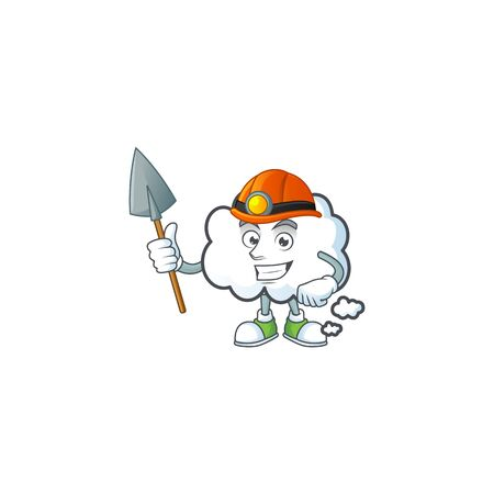 Miner design cloud bubble for icon thinking vector illustration