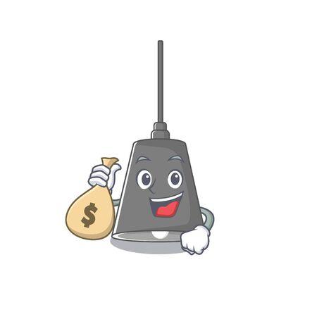 With money bag pendant lamp cartoon with mascot shape