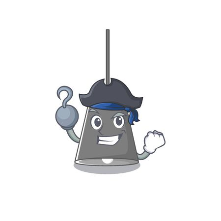 Pirate pendant lamp cartoon with mascot shape Çizim