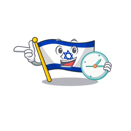 With clock flag israel flown on mascot pole