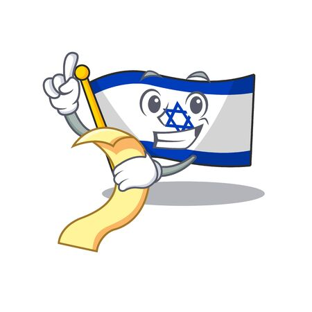 With menu flag israel with the character shape Illustration