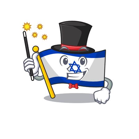 Magician flag israel stored in cartoon cupboard Ilustrace