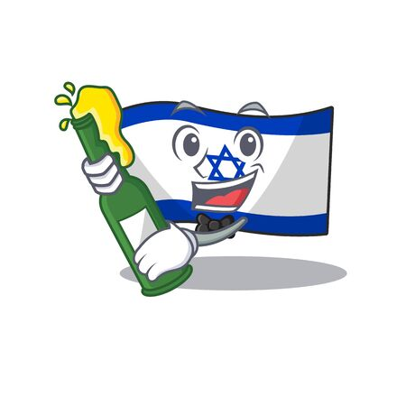 With beer flag israel stored in cartoon cupboard