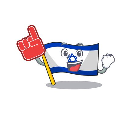 Foam finger flag israel stored in cartoon cupboard Ilustrace