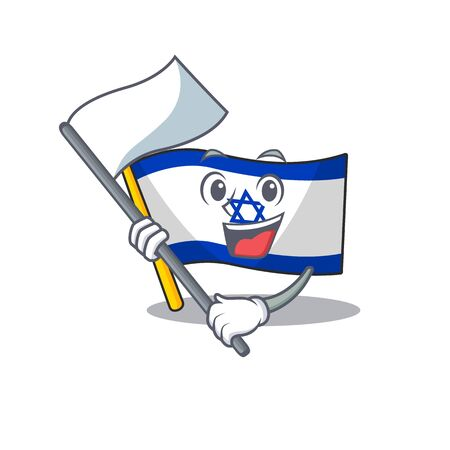 With flag flag israel stored in cartoon cupboard