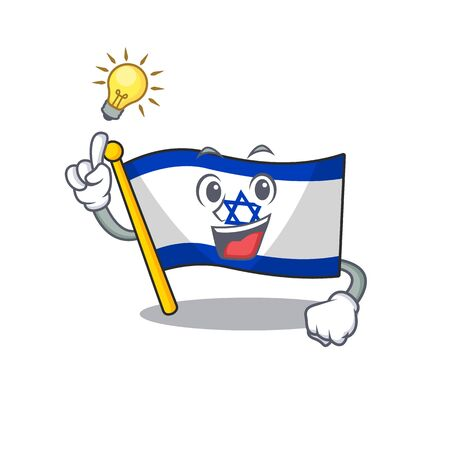 Have an idea flag israel stored in cartoon cupboard vector illustration Ilustrace