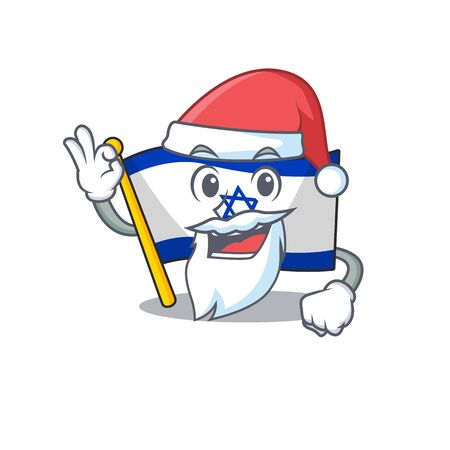 Santa flag israel stored in cartoon cupboard vector illustration Ilustrace