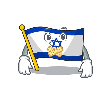 Silent flag israel stored in cartoon cupboard vector illustration Ilustrace