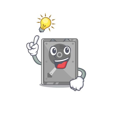 Have an idea internal hard drive with cartoon shape vector illustration