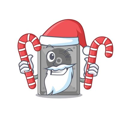 Santa with candy internal hard drive with cartoon shape