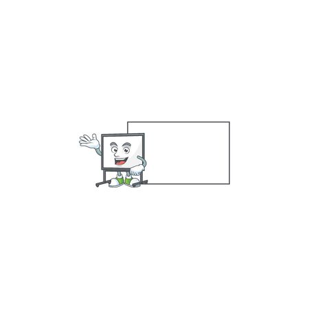 With board white board for a teaching equipment vector illustration