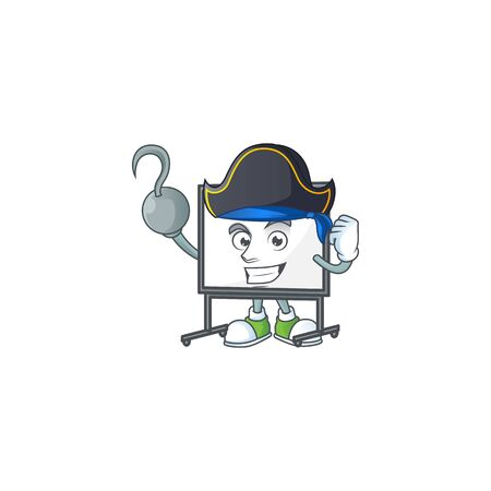 Pirate white board for a teaching equipment vector illustration  イラスト・ベクター素材