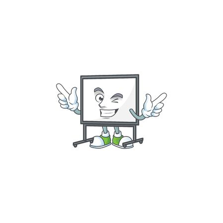 Wink white board in the character mascot vector illustration 向量圖像