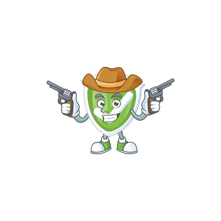 Cowboy checkmark shield for symbol a protection vector illustration Ilustrace