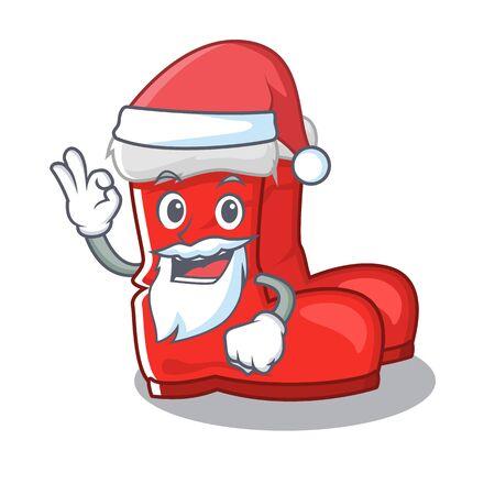 Santa santa boots with the cartoon shape Illustration