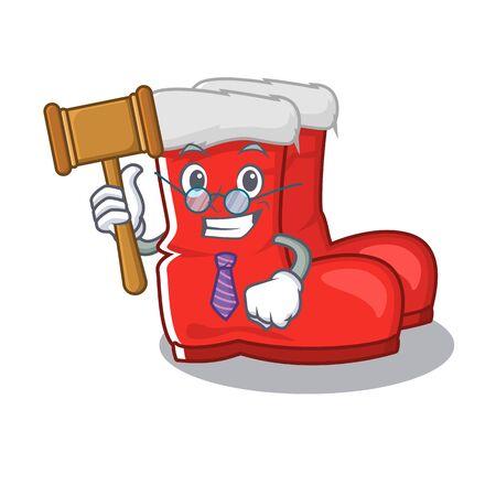 Judge santa boots with the cartoon shape