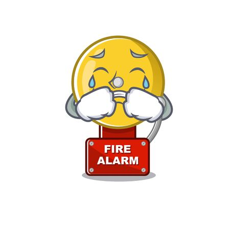 Crying fire alarm with the character shape vector illustration 일러스트