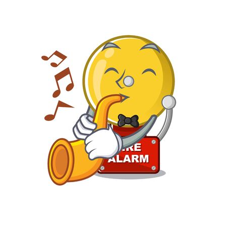 With trumpet fire alarm with the character shape