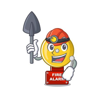Miner fire alarm with the character shape